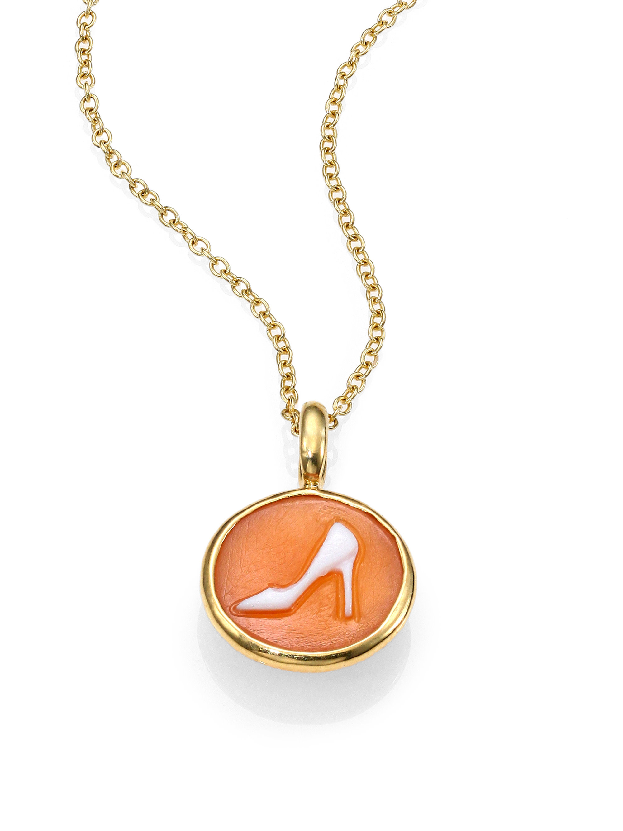 Ippolita Shell Cameo & 18k Yellow Gold Pump Charm in ...