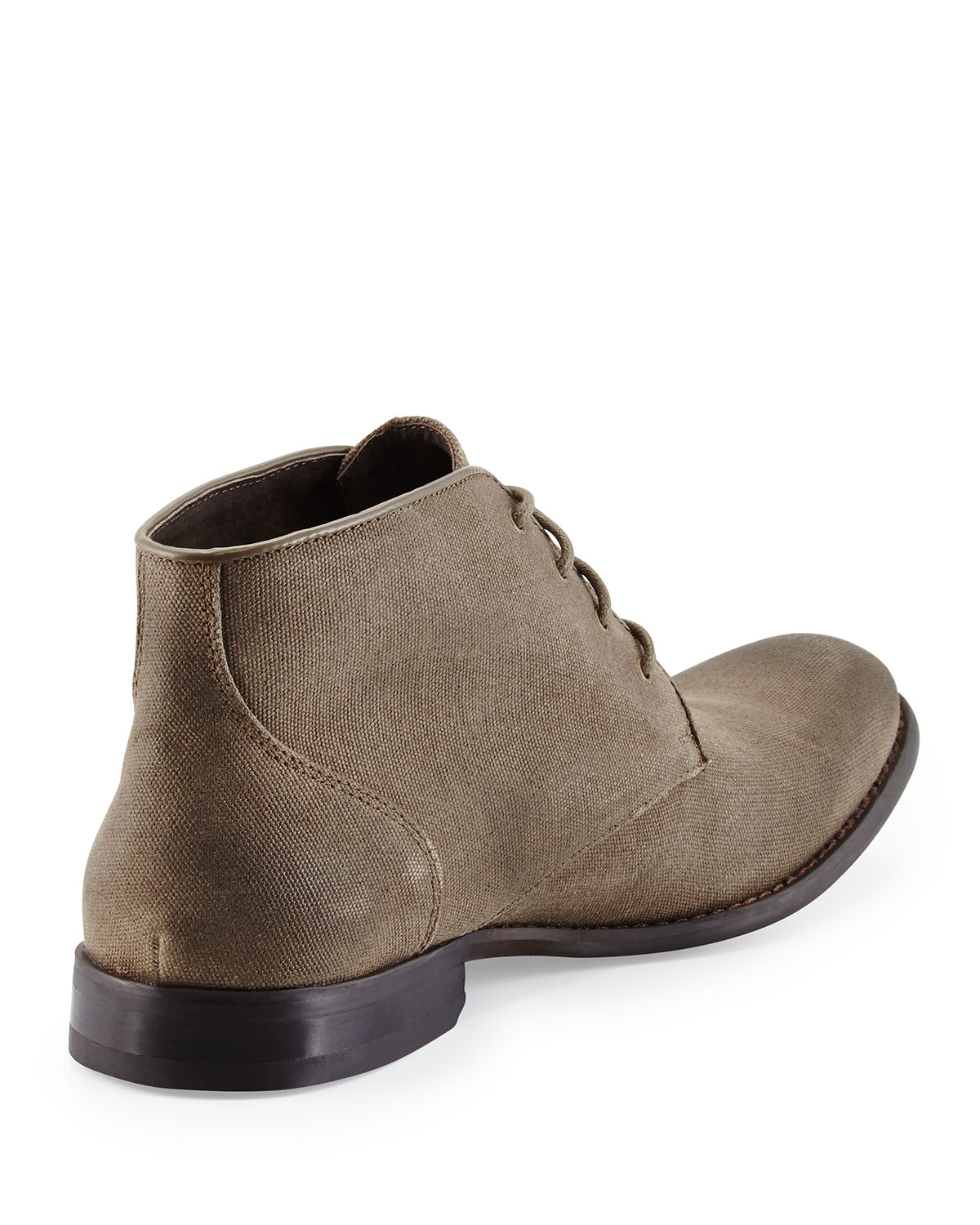 varvatos classic canvas chukka boot in brown for