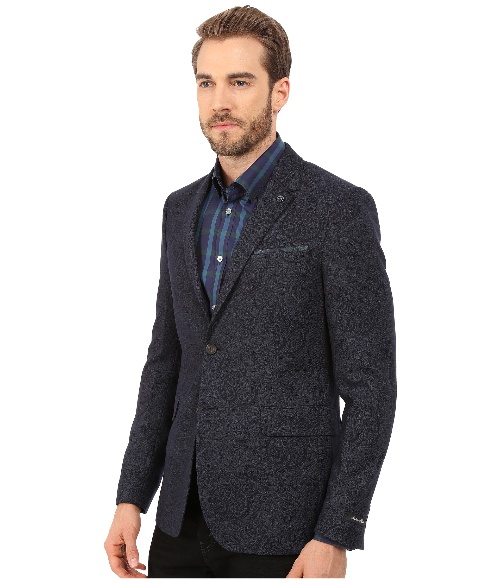 d605cfa81db280 Lyst - Ted Baker Hiko Printed Paisley Blazer in Blue for Men