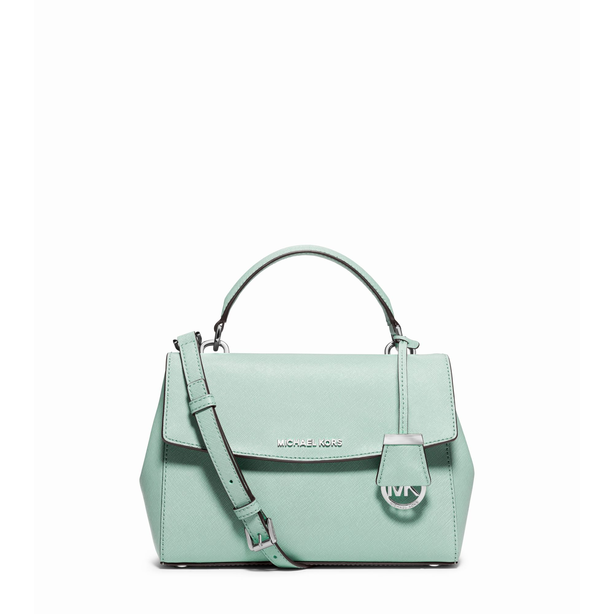 93a7bf8d263a Michael Kors Ava Small Saffiano Leather Satchel in Green - Lyst
