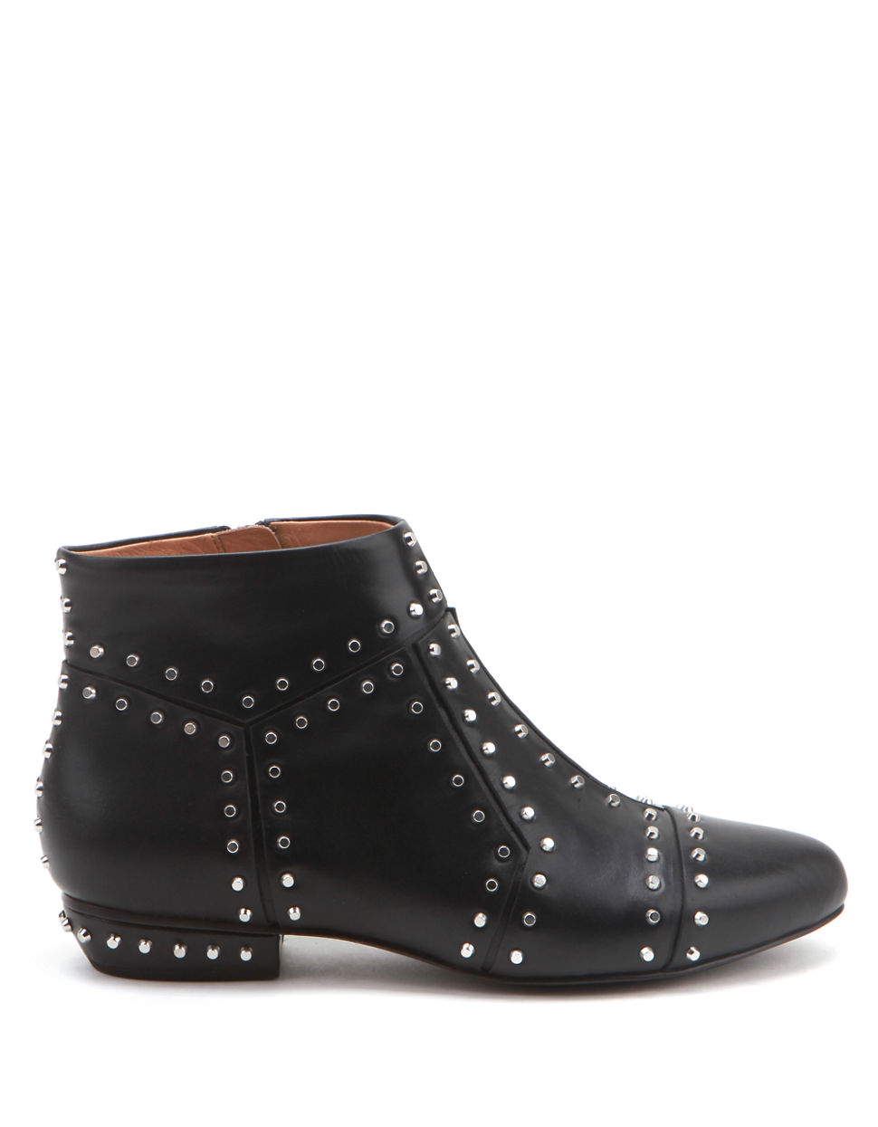 United nude Rivet Studded Leather Booties in Black