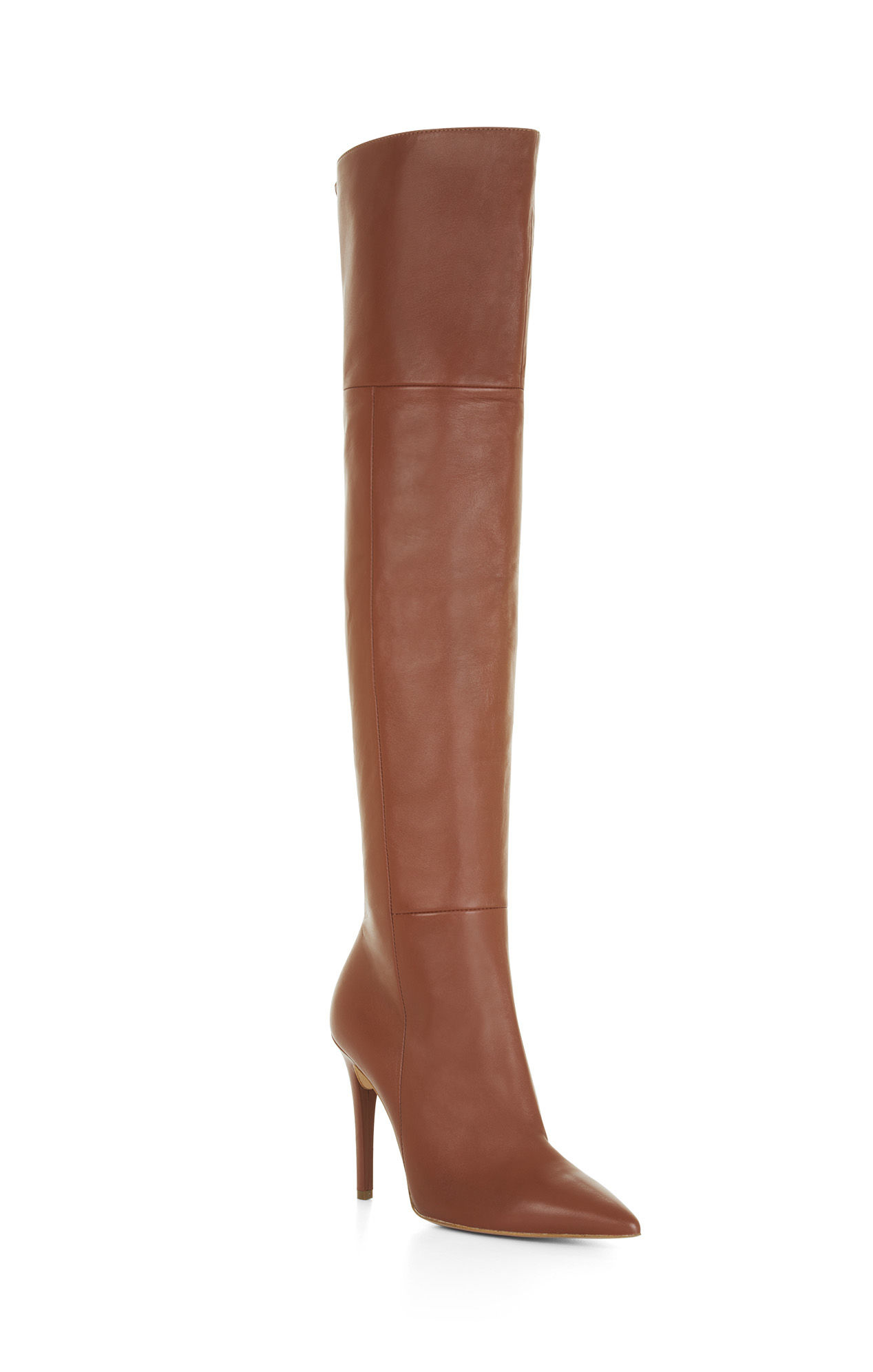 Bcbgmaxazria Abella High-heel Over-the-knee Leather Boots in Brown ...