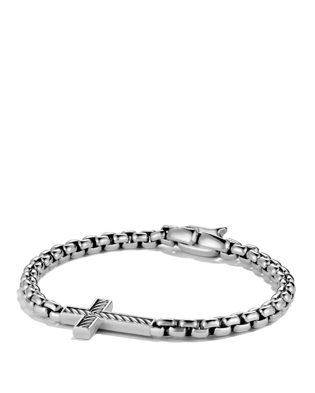 Lyst David Yurman Pav 233 Cross Bracelet With Diamonds In