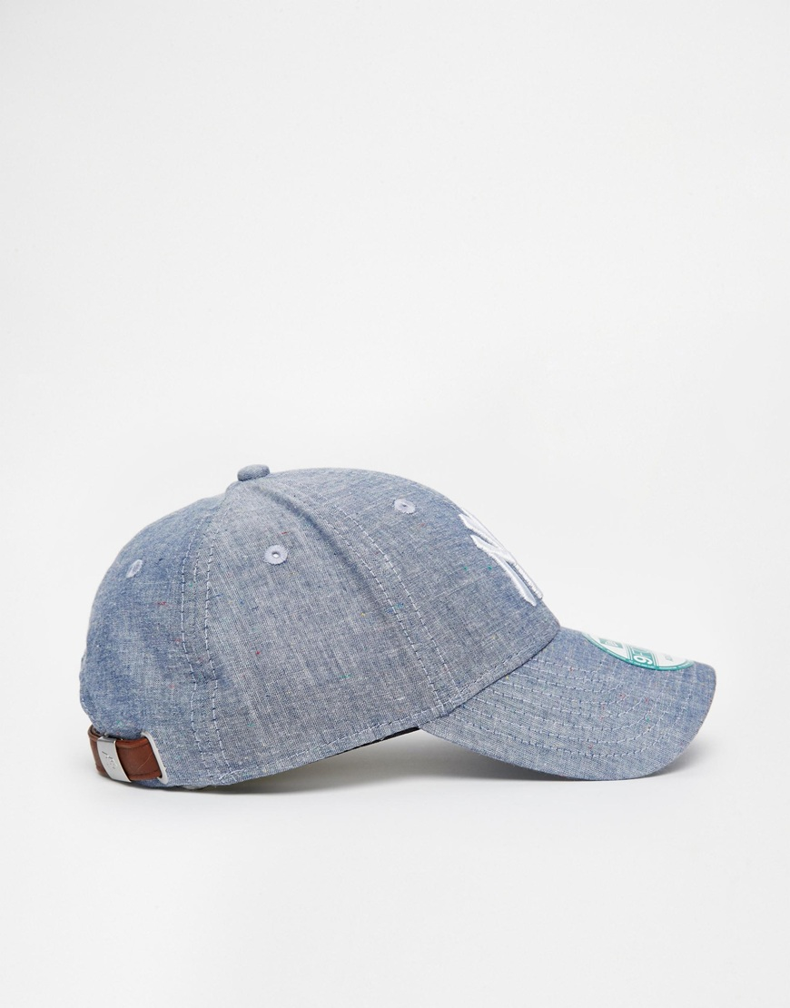 598bdadfa90 Lyst - KTZ 9forty Chambray Ny Yankees Cap in Blue for Men