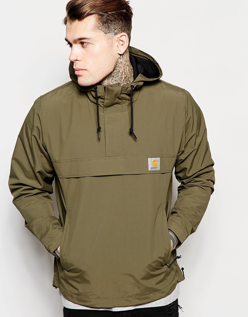 Carhartt Wip Nimbus Hooded Pullover Jacket In Green For