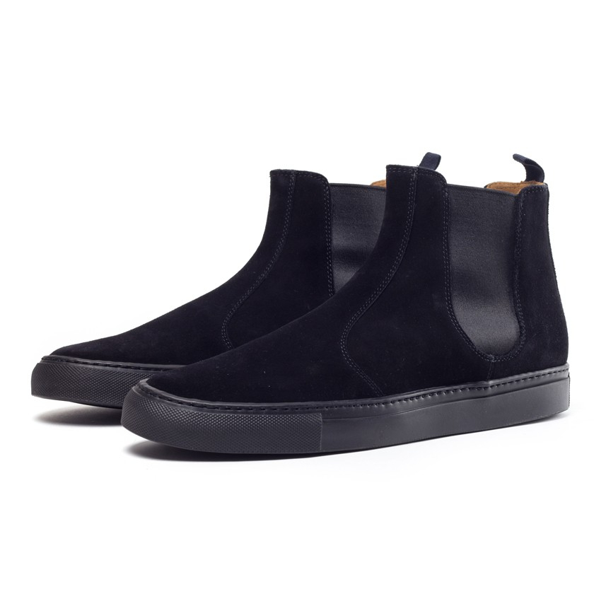 buttero suede chelsea boots in black for lyst
