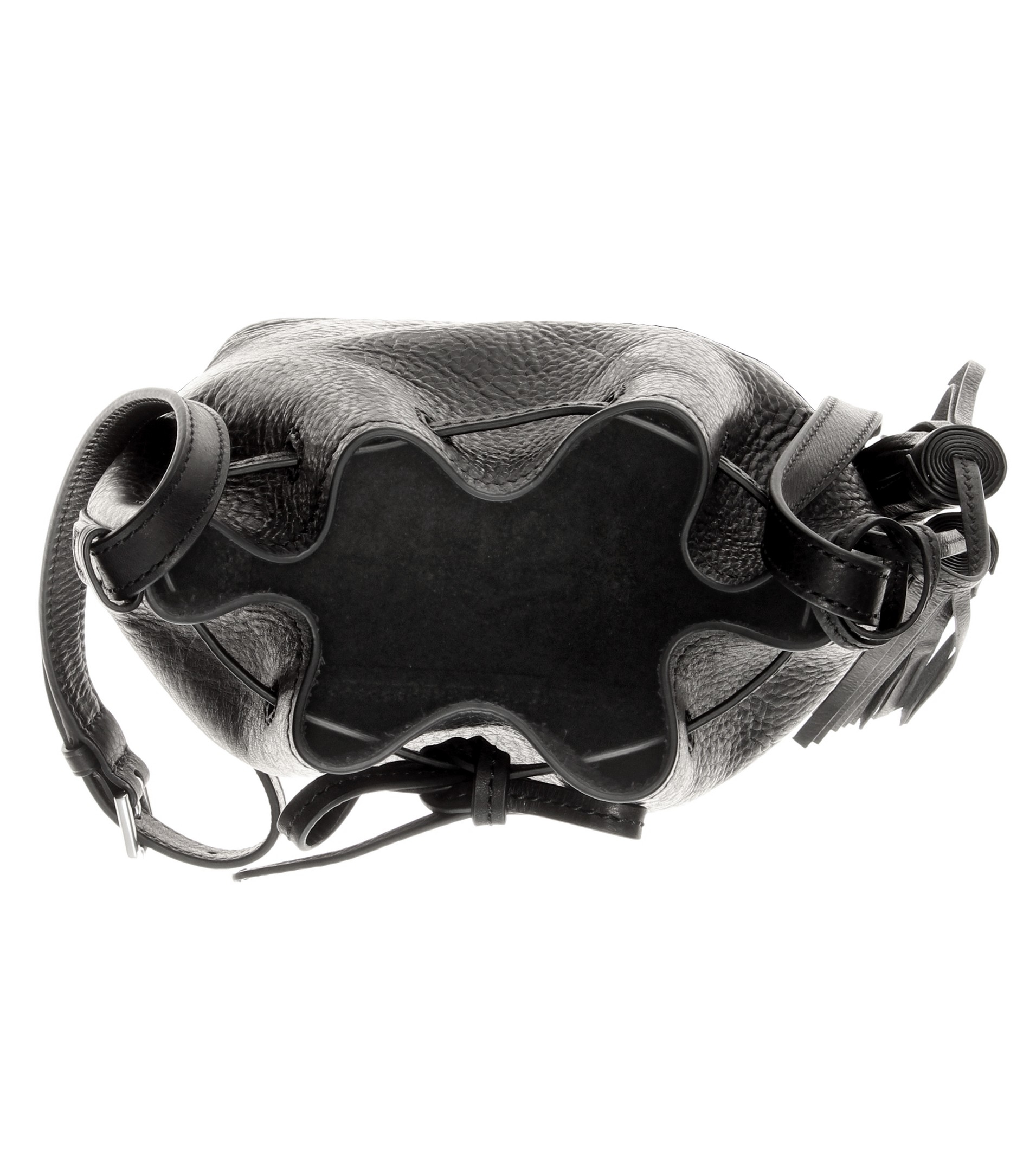 Polo ralph lauren Mini Bucket Leather Shoulder Bag in Black | Lyst. Ralph Lauren Polo Chic Canvas Handbag Red