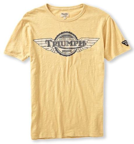 Lucky Brand Triumph T Shirt In Yellow For Men Dusty Gold
