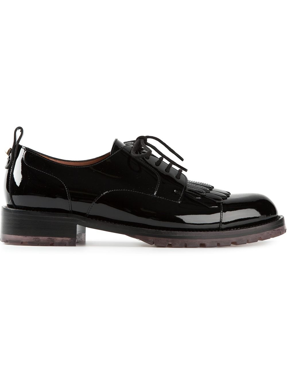 valentino b formal patent leather brogues in black lyst