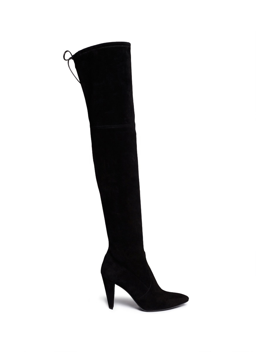 stuart weitzman highstreet suede thigh high boots in