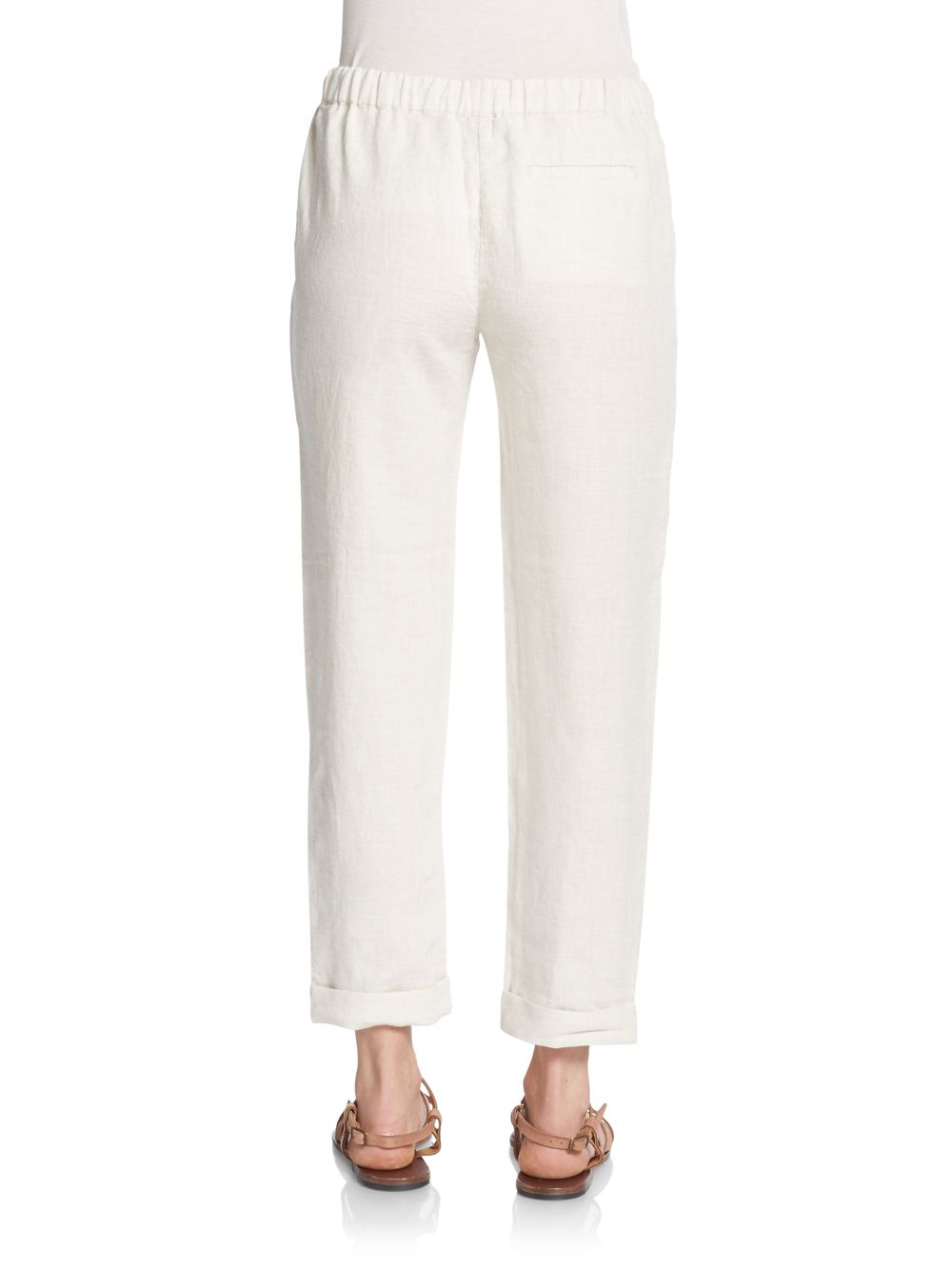Flax Linen Drawstring Pants - Pant Row