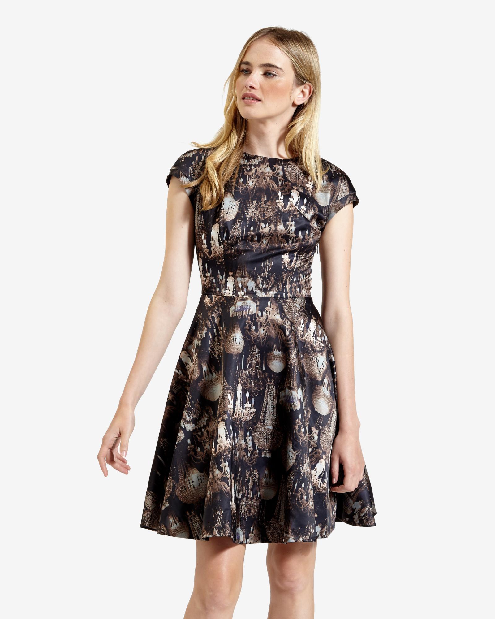 Ted Baker Marui Skirt Dress In Black Lyst