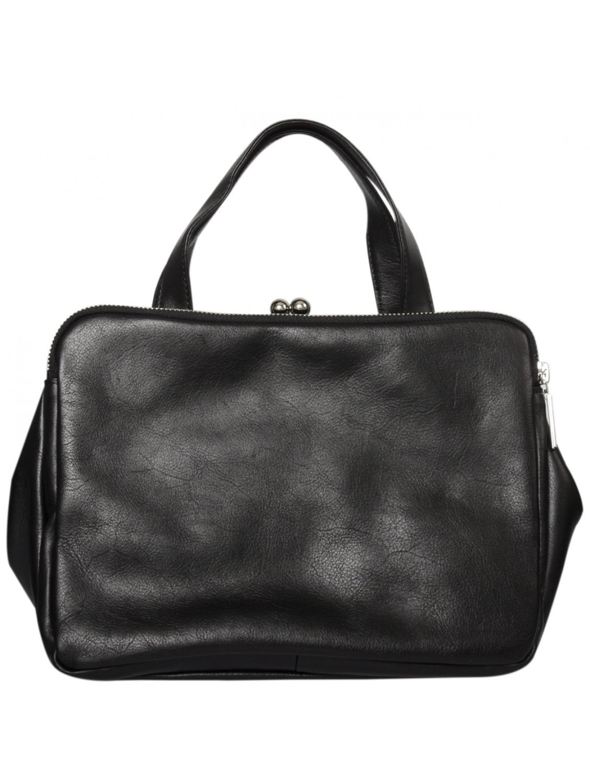 ff9818be08 Yohji Yamamoto Dual Zipped Leather Handbag Black in Black - Lyst