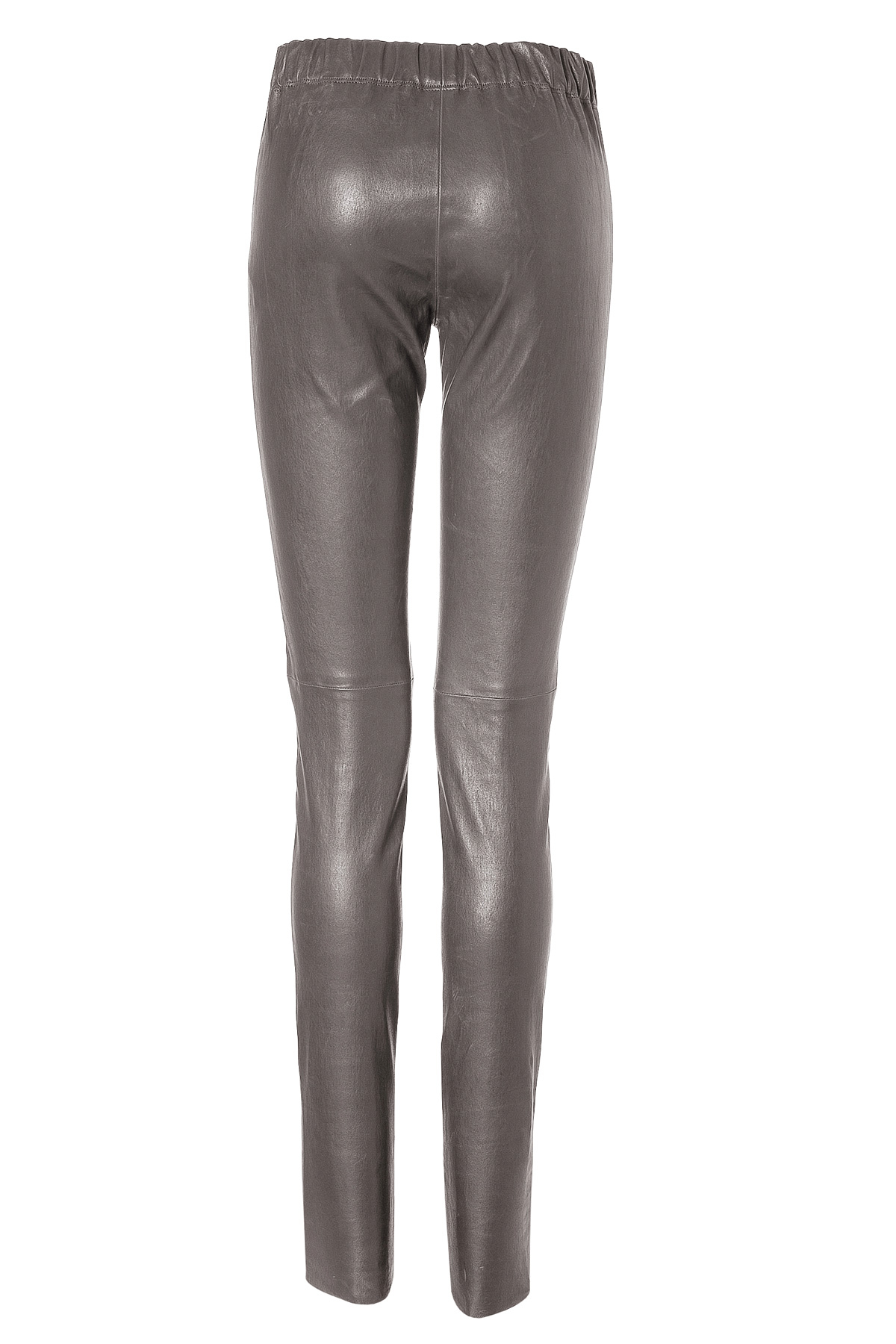Joseph Leather Leggings in Grey in Gray | Lyst