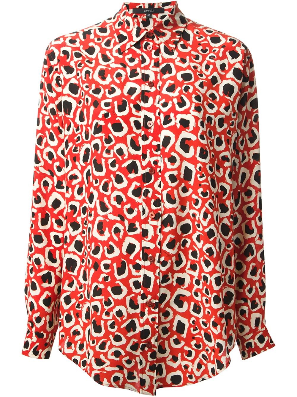 Gucci Animal Print Shirt in Red - 1270.5KB