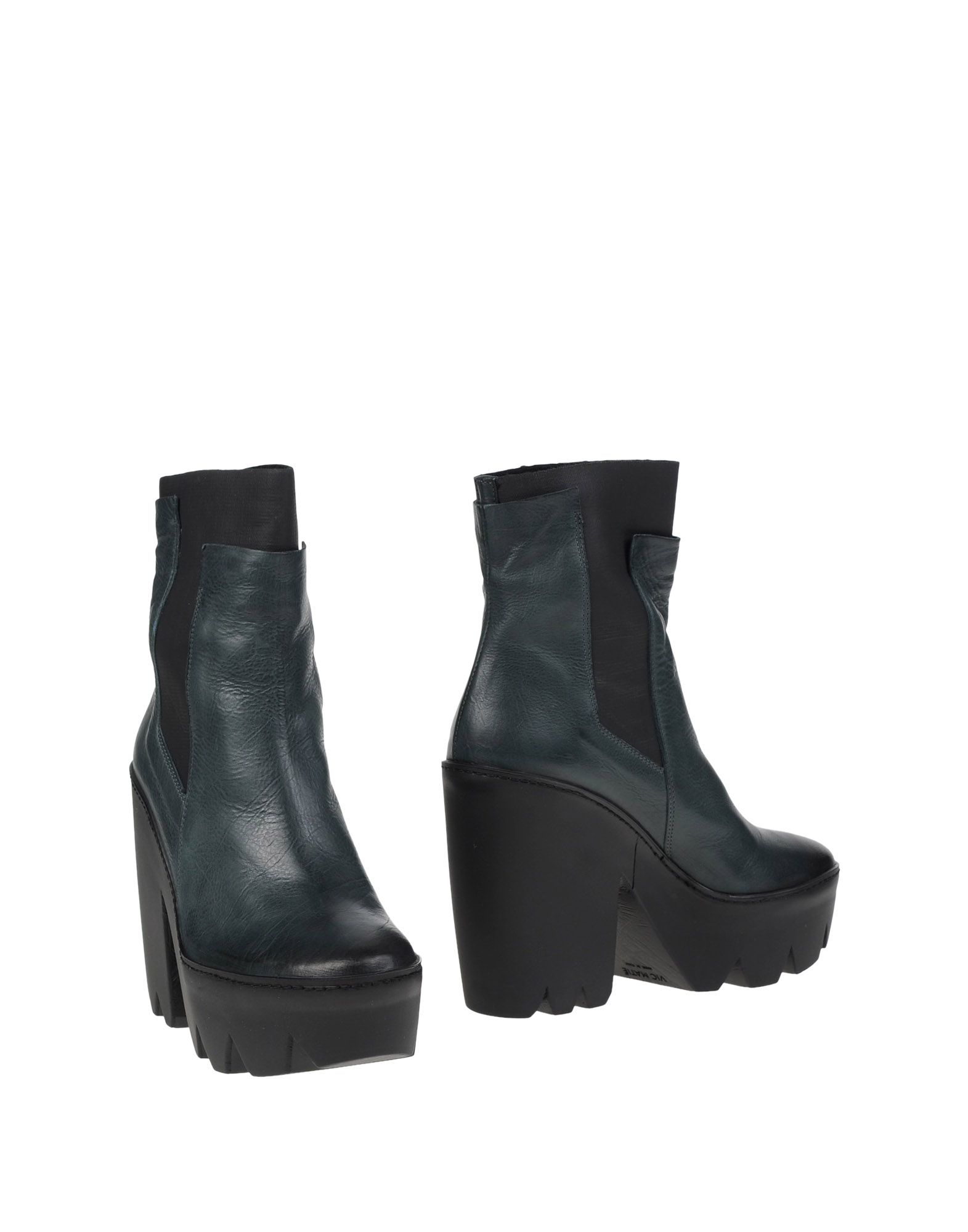 vic mati ankle boots in green lyst. Black Bedroom Furniture Sets. Home Design Ideas