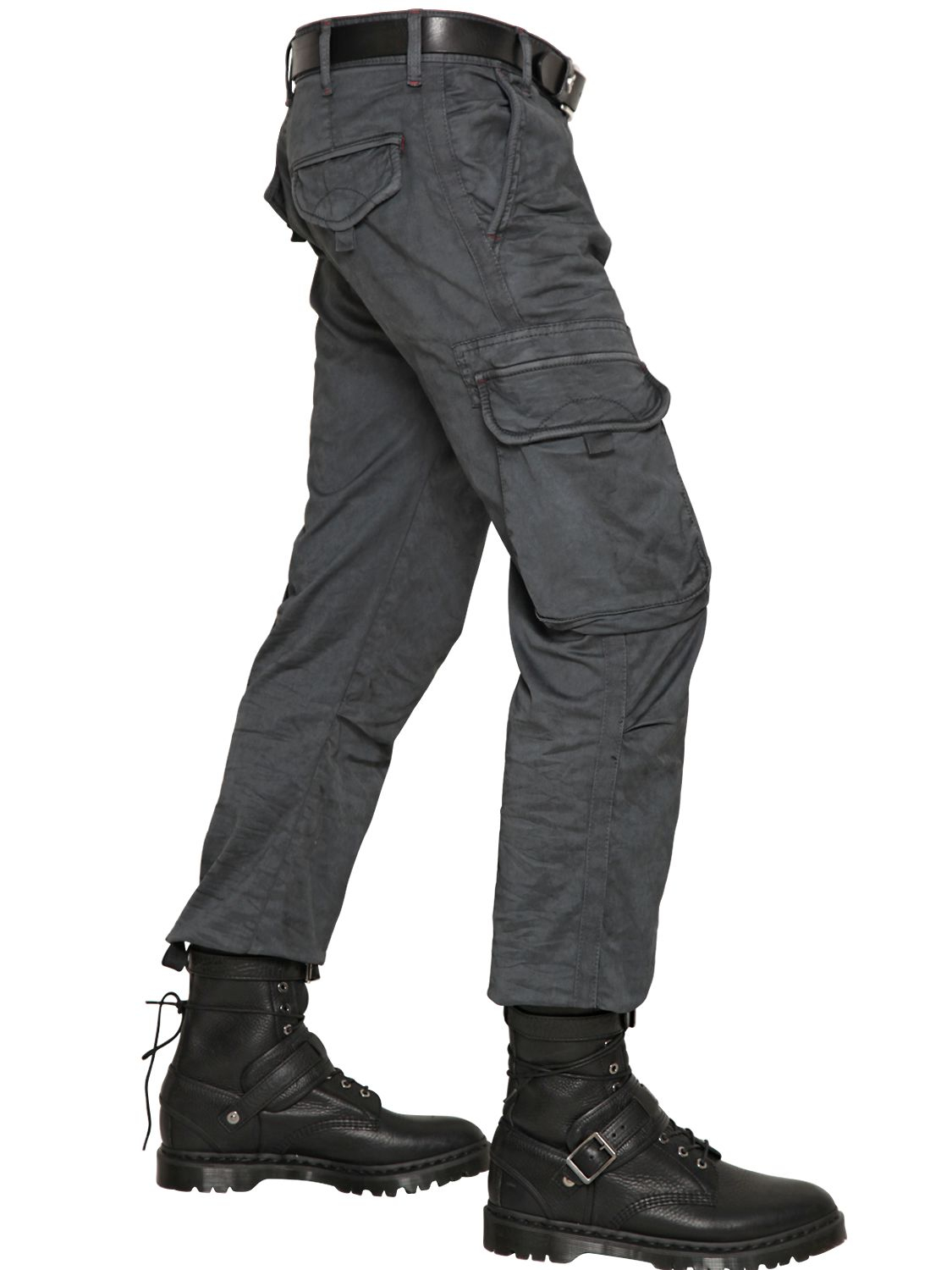 Armani jeans 20.5cm Stretch Canvas Cargo Trousers in Gray for Men ...