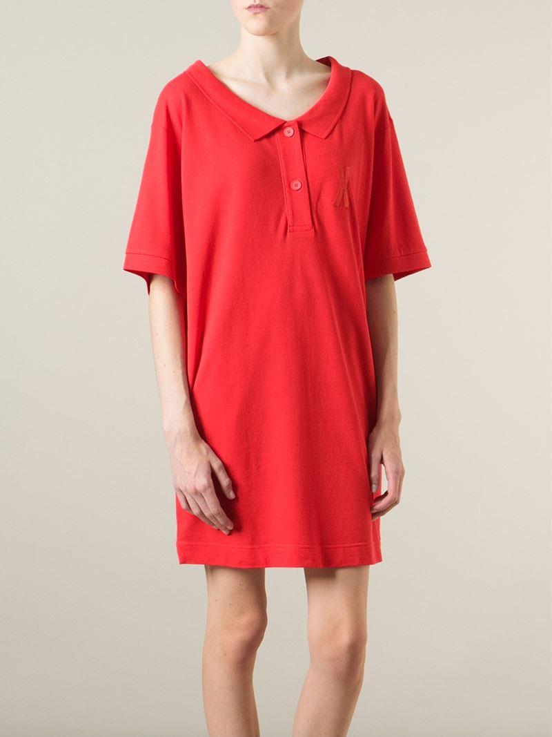 Mm6 By Maison Martin Margiela Oversized Polo Shirt Dress