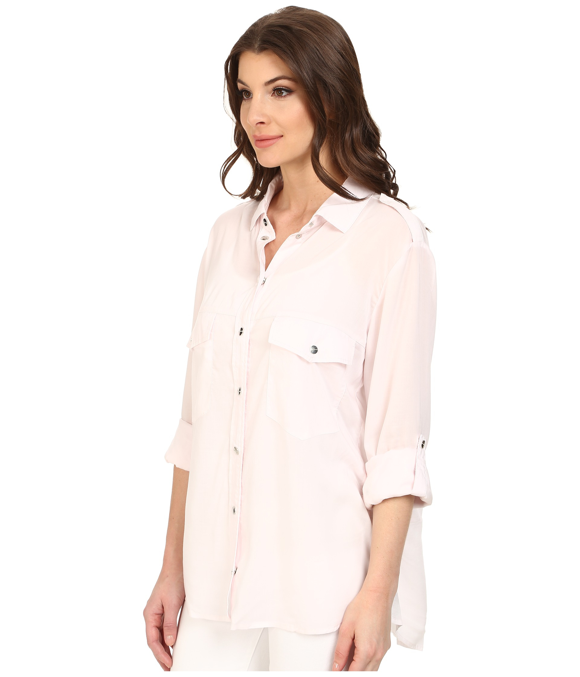 Sanctuary Boyfriend Shirt in Pink | Lyst