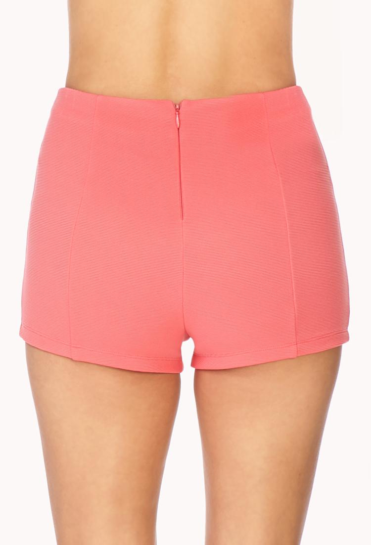 Coral High Waisted Shorts Hardon Clothes