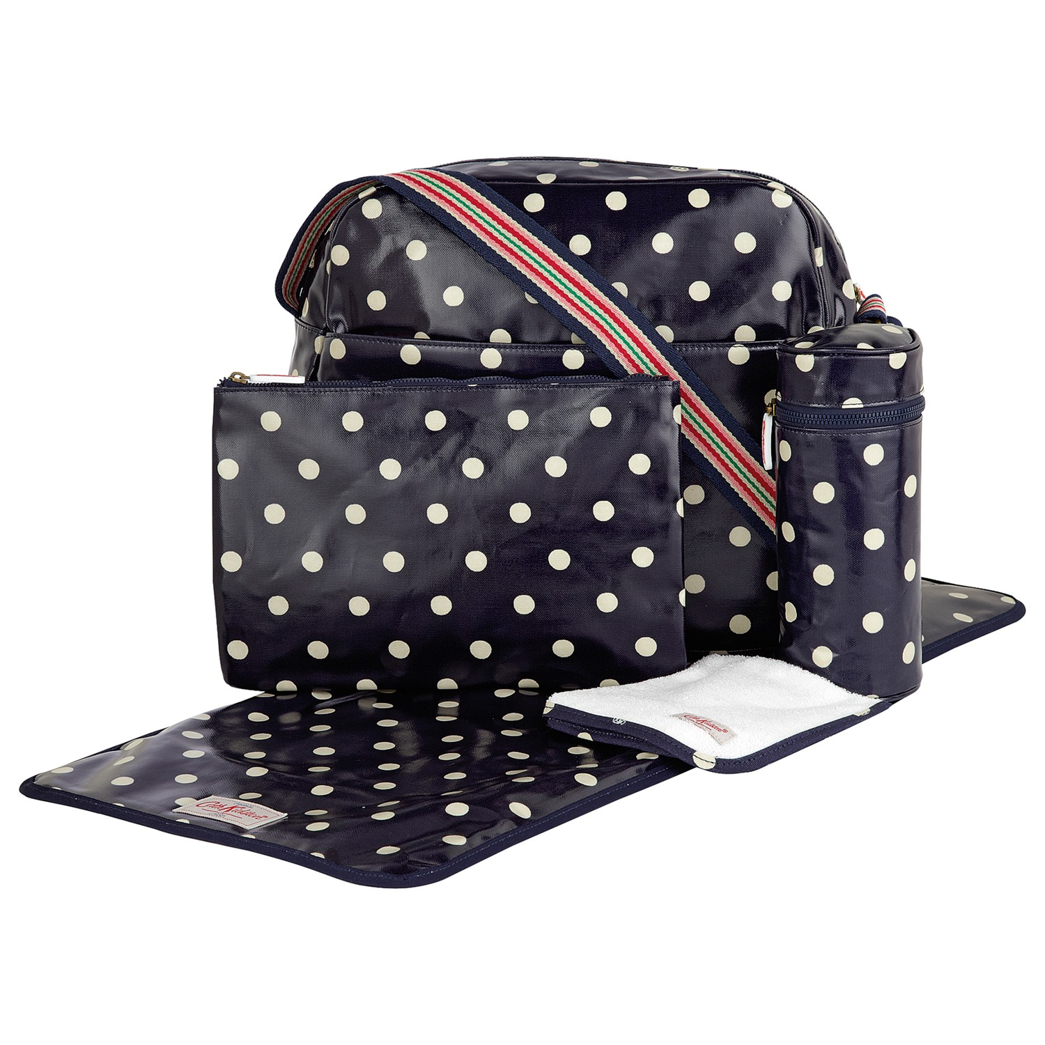 cath kidston baby spotted zip changing bag in blue lyst. Black Bedroom Furniture Sets. Home Design Ideas