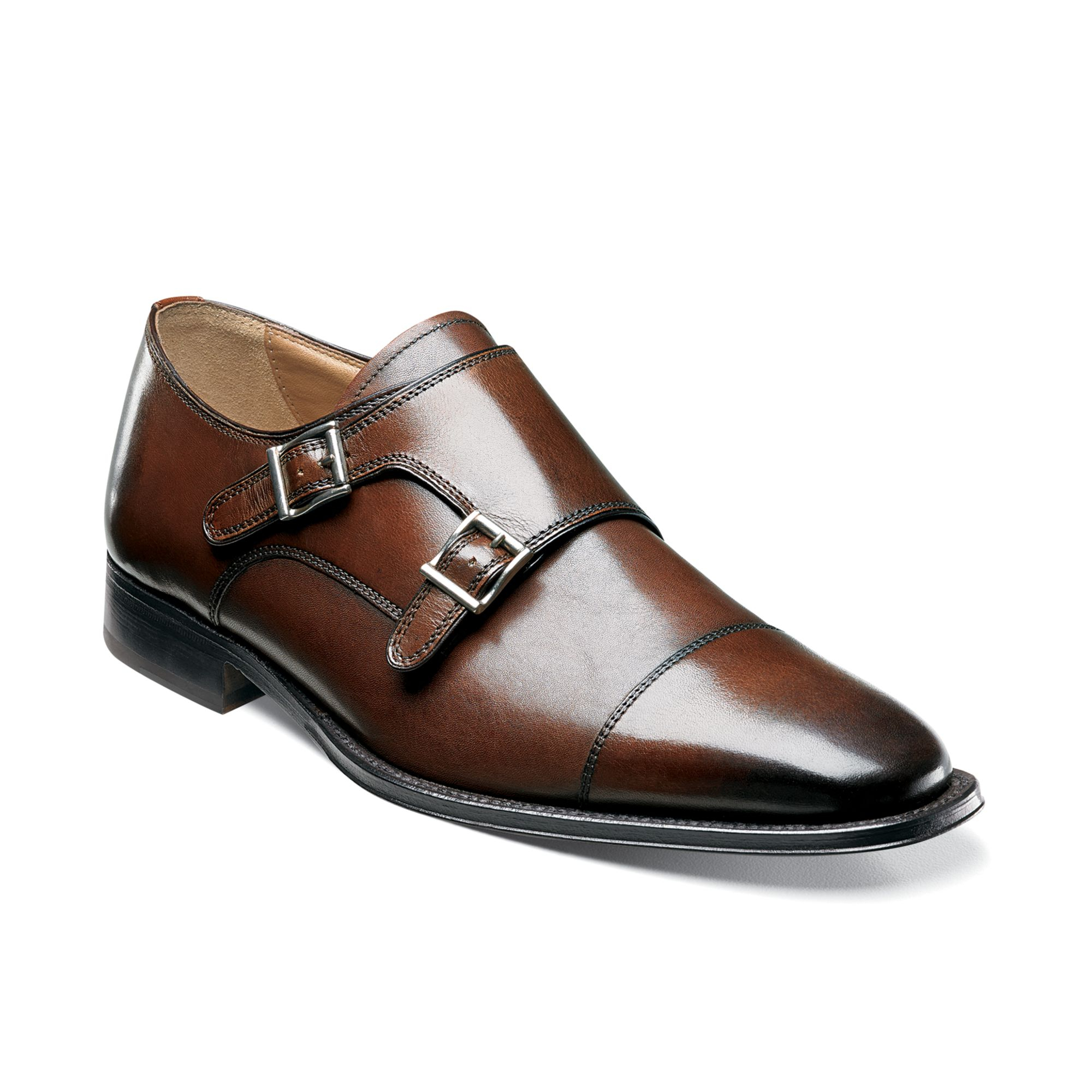 florsheim classico monk shoes in brown for