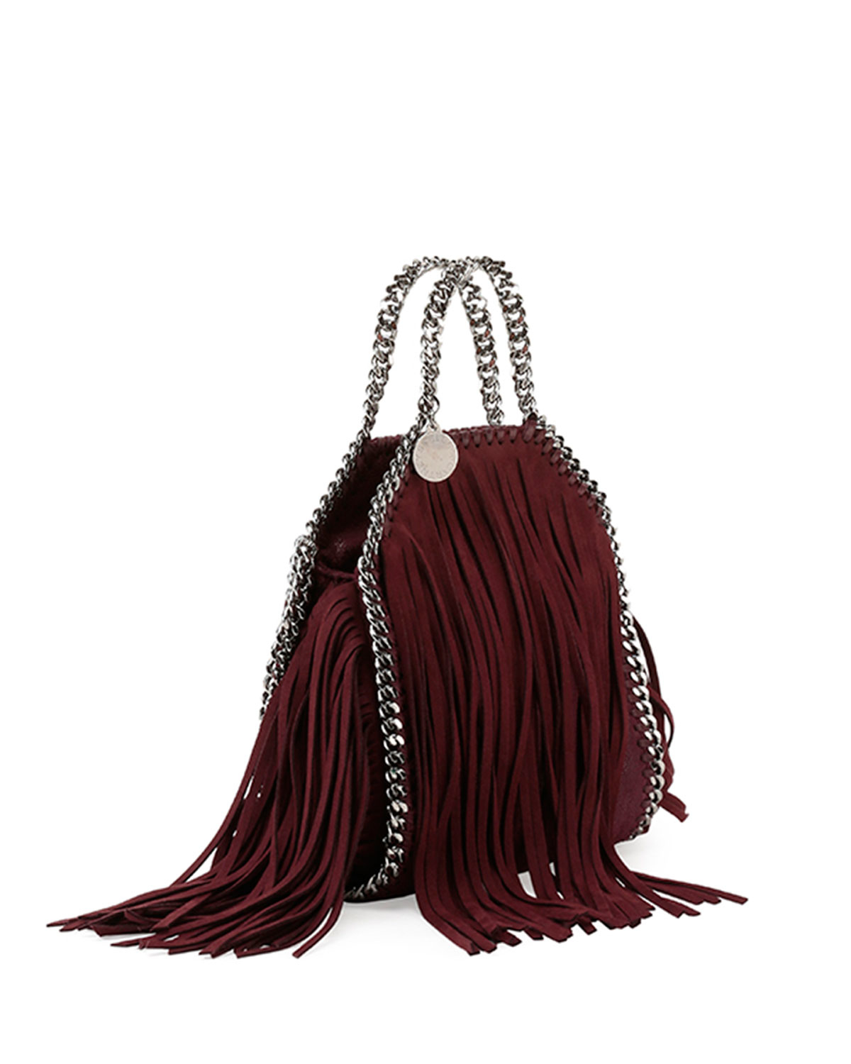 15f780852c05 Lyst - Stella McCartney Fringed Shaggy Deer Mini Tote Bag in Purple