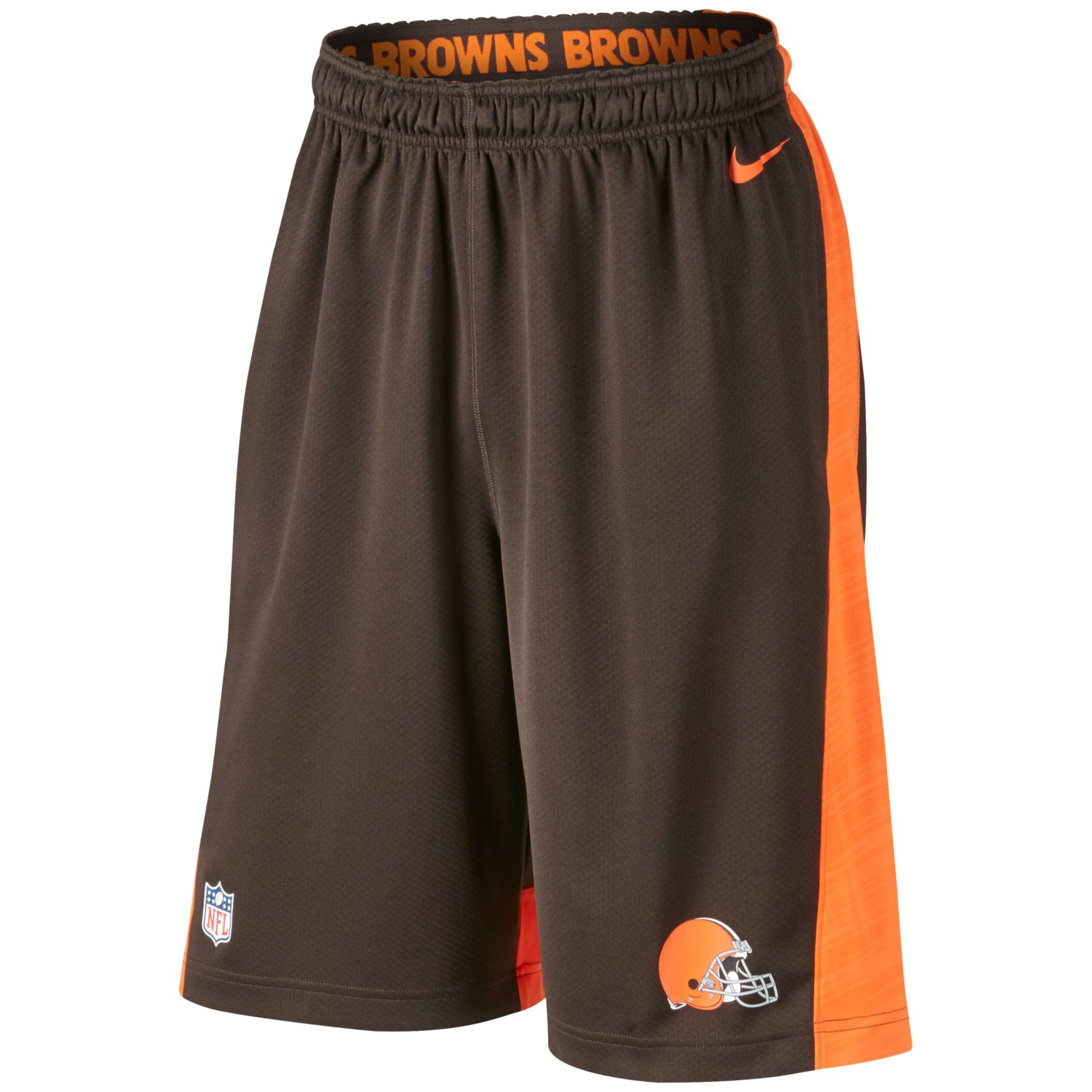 Nike Men'S Cleveland Browns Fly Xl Dri-Fit Shorts in Brown ...