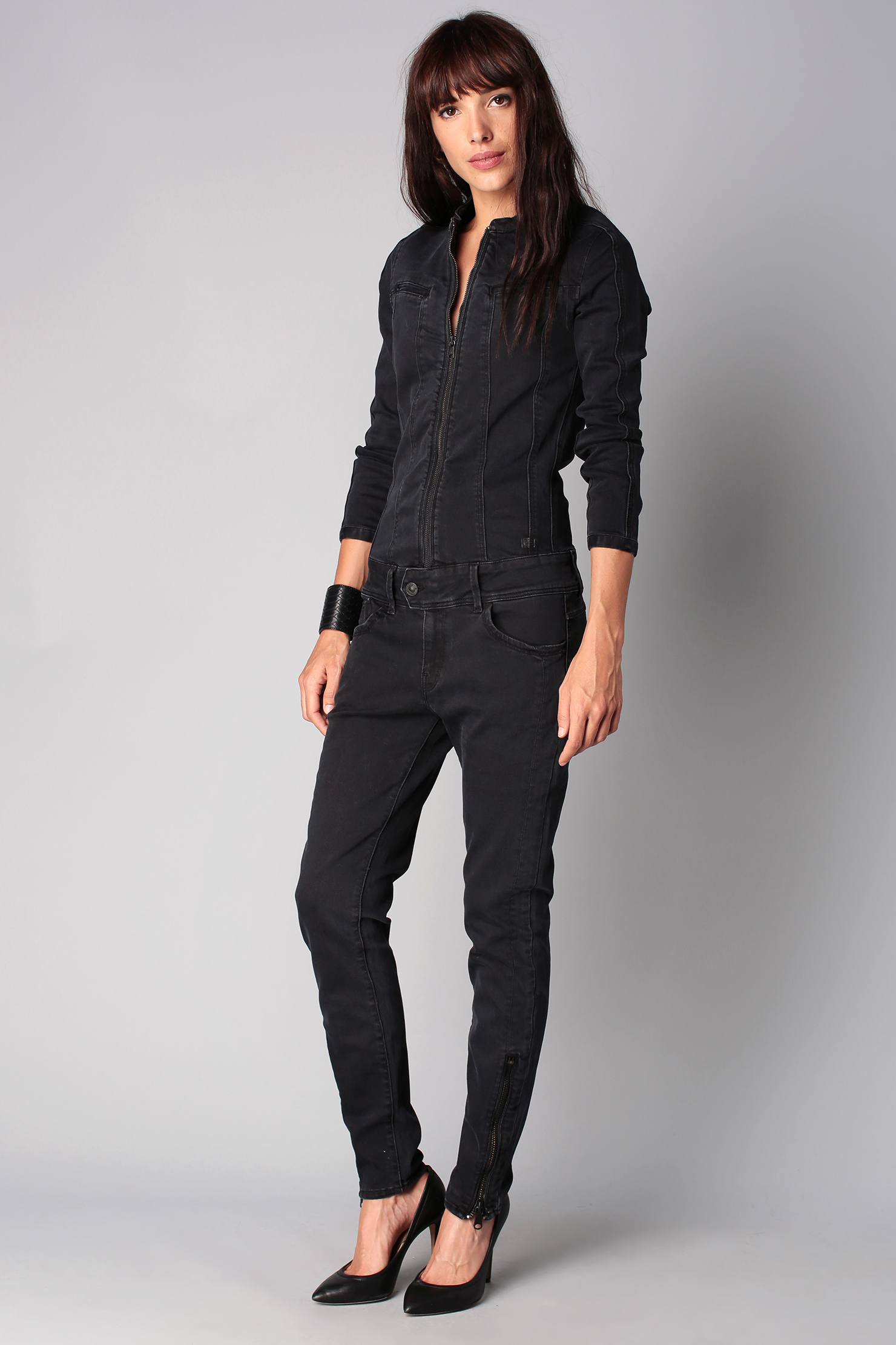 lyst g star raw jumpsuit in black. Black Bedroom Furniture Sets. Home Design Ideas