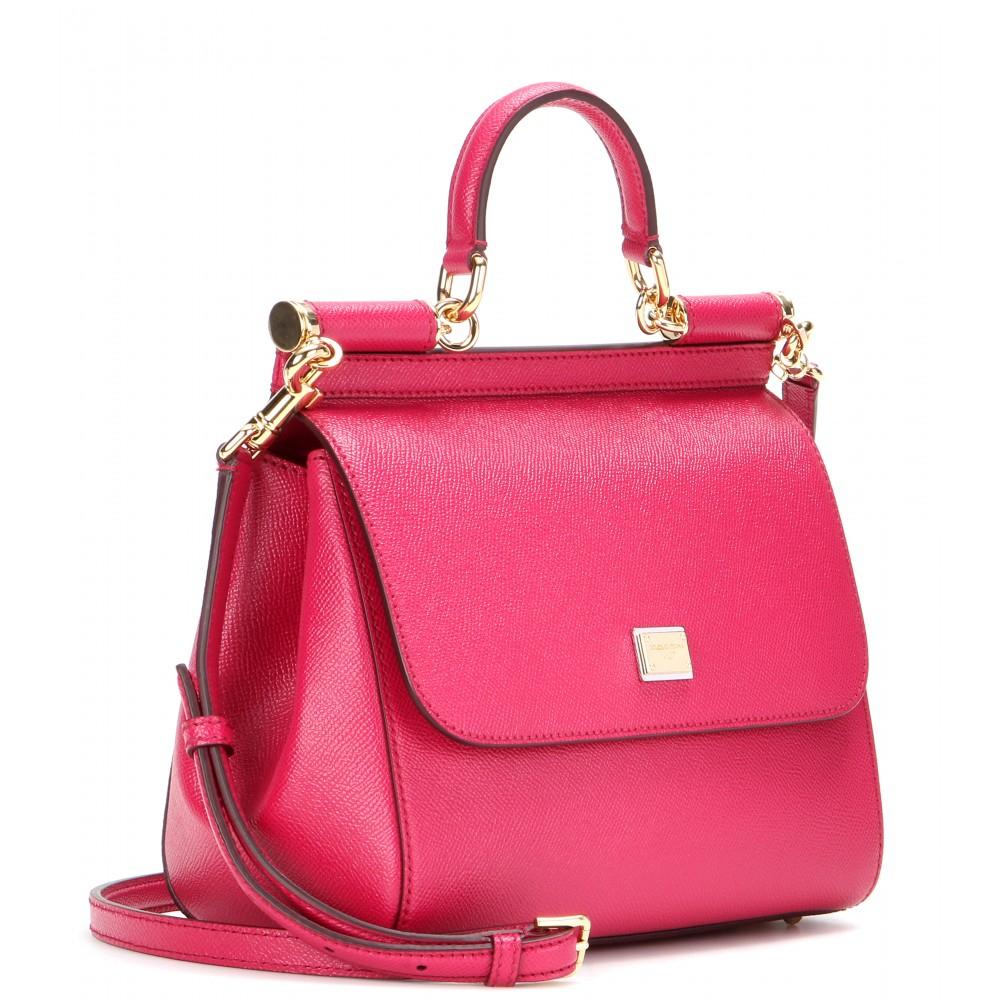 ... Dolce Gabbana - Pink Miss Sicily Medium Leather Shoulder Bag - Lyst new  product 2c12b 4c574 ... 7c8018f42f