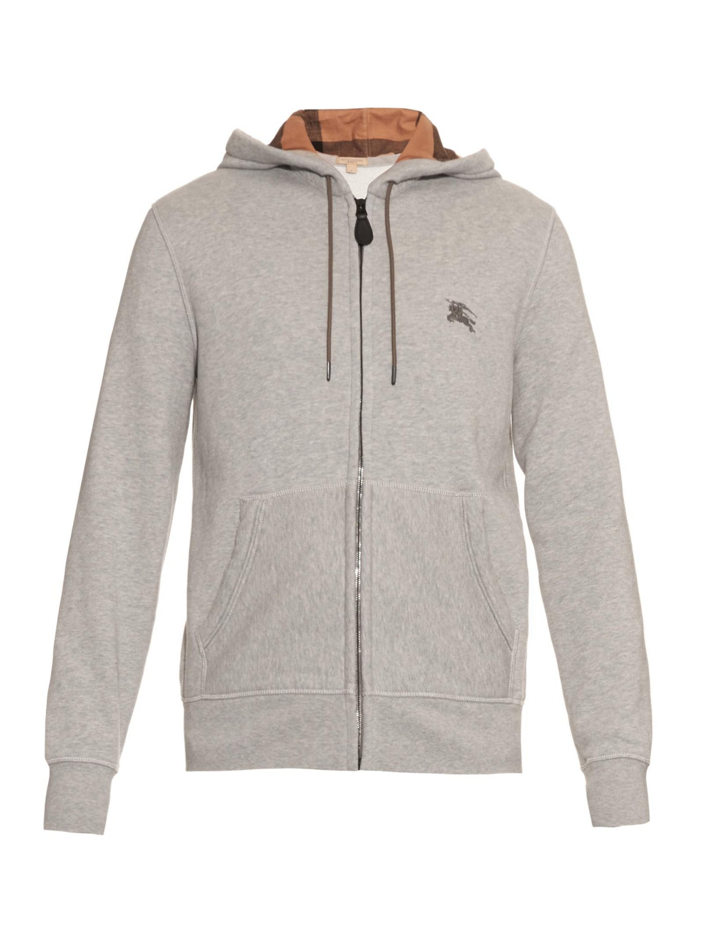 74be64f6d31 Lyst - Burberry Brit Pearce Hooded Fleece Sweater in Gray for Men