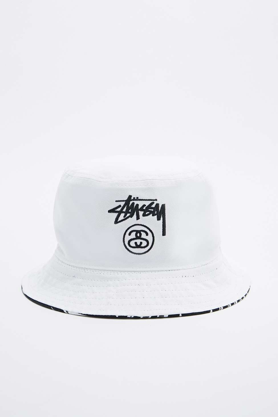 efe70e64a4c Stussy Reversible Palm Bucket Hat In Black And White in Black for ...