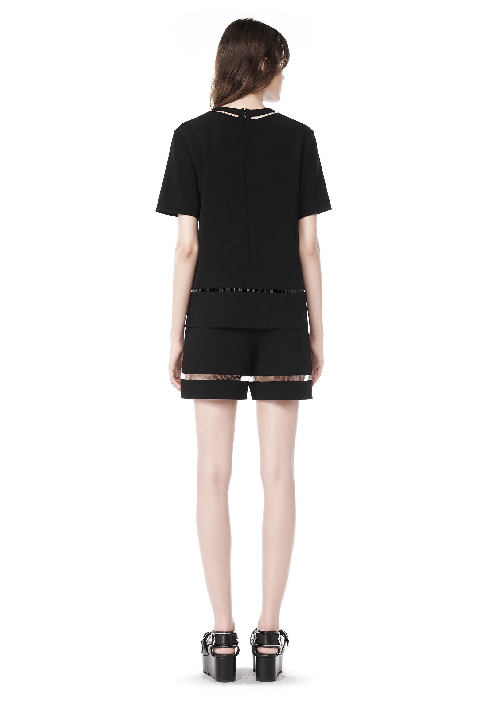 Alexander wang Fishline Tailored Shorts in Black | Lyst