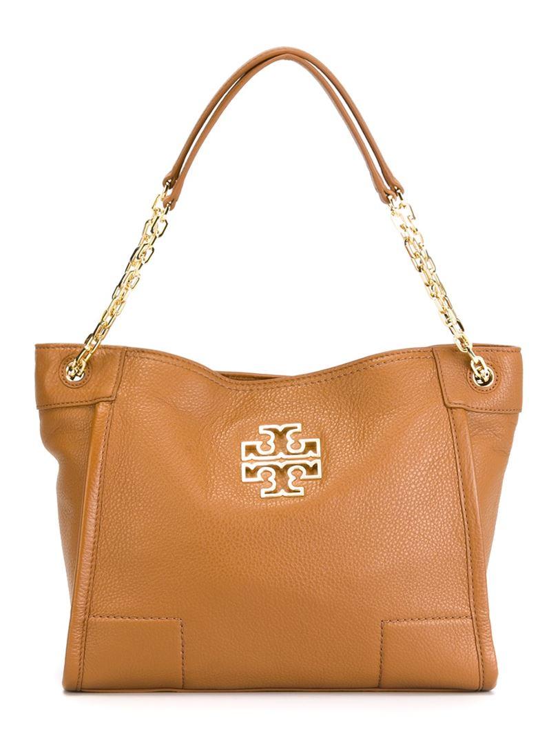 6609d001dc7 Lyst - Tory Burch Small  britten  Tote Bag in Brown