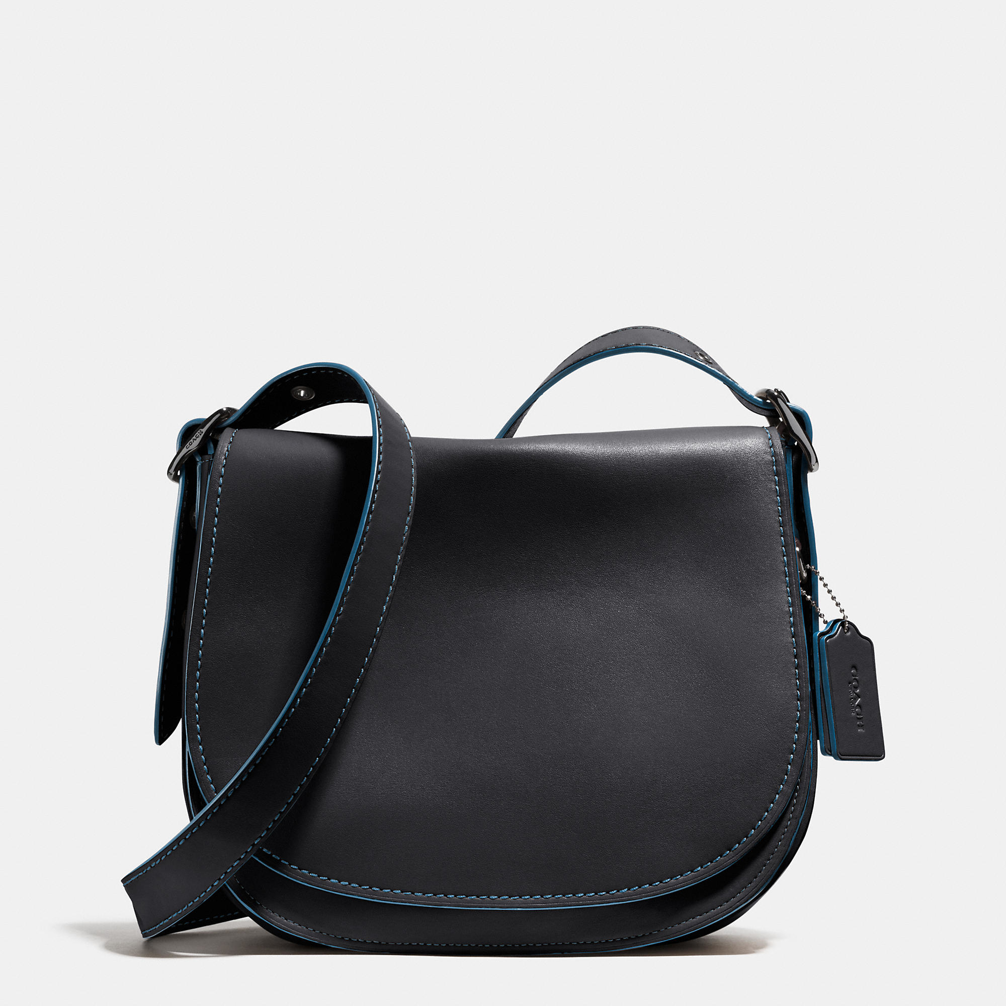 Coach Saddle Bag In Glovetanned Leather in Gray | Lyst Saddle Bag