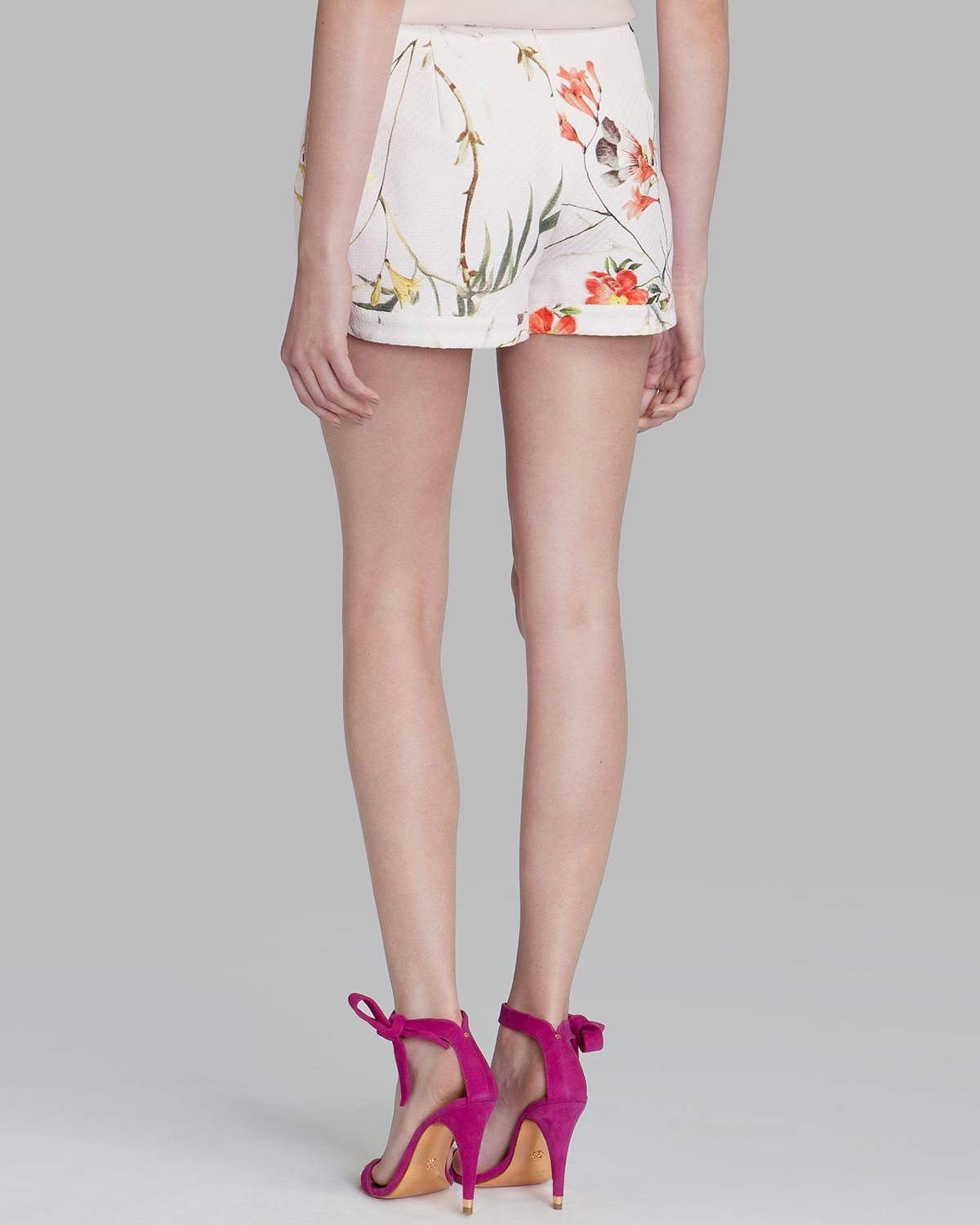 4958c8f06 Lyst - Ted Baker Shorts - Sabele Botanical Bloom Print in Pink