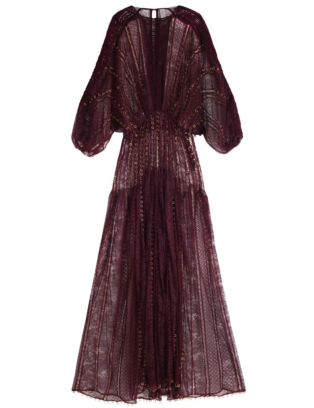 Lyst Zimmermann Rhythm Lace Links Dress In Red