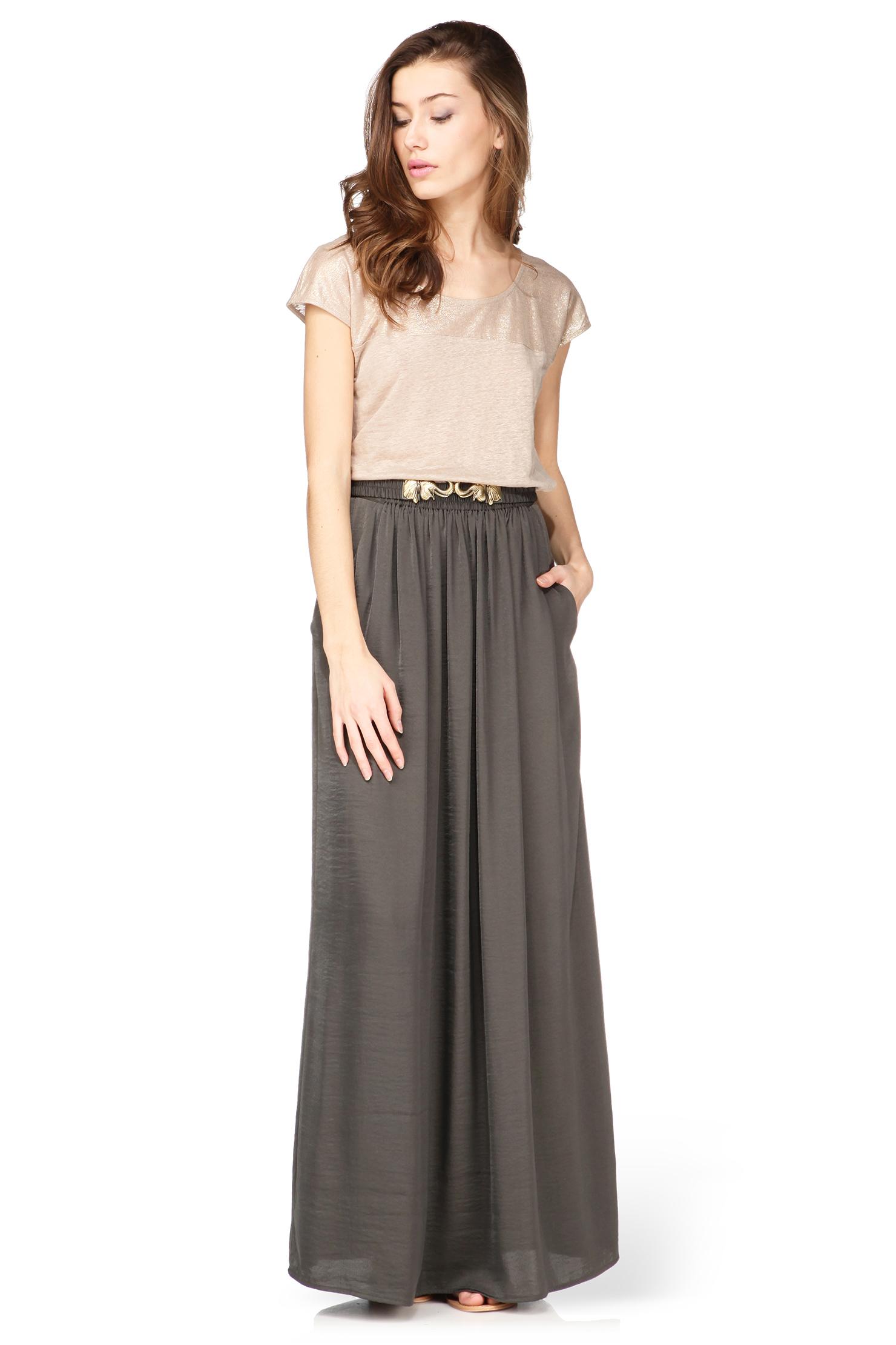 Intropia Midi Skirt / Maxi Skirt in Green | Lyst