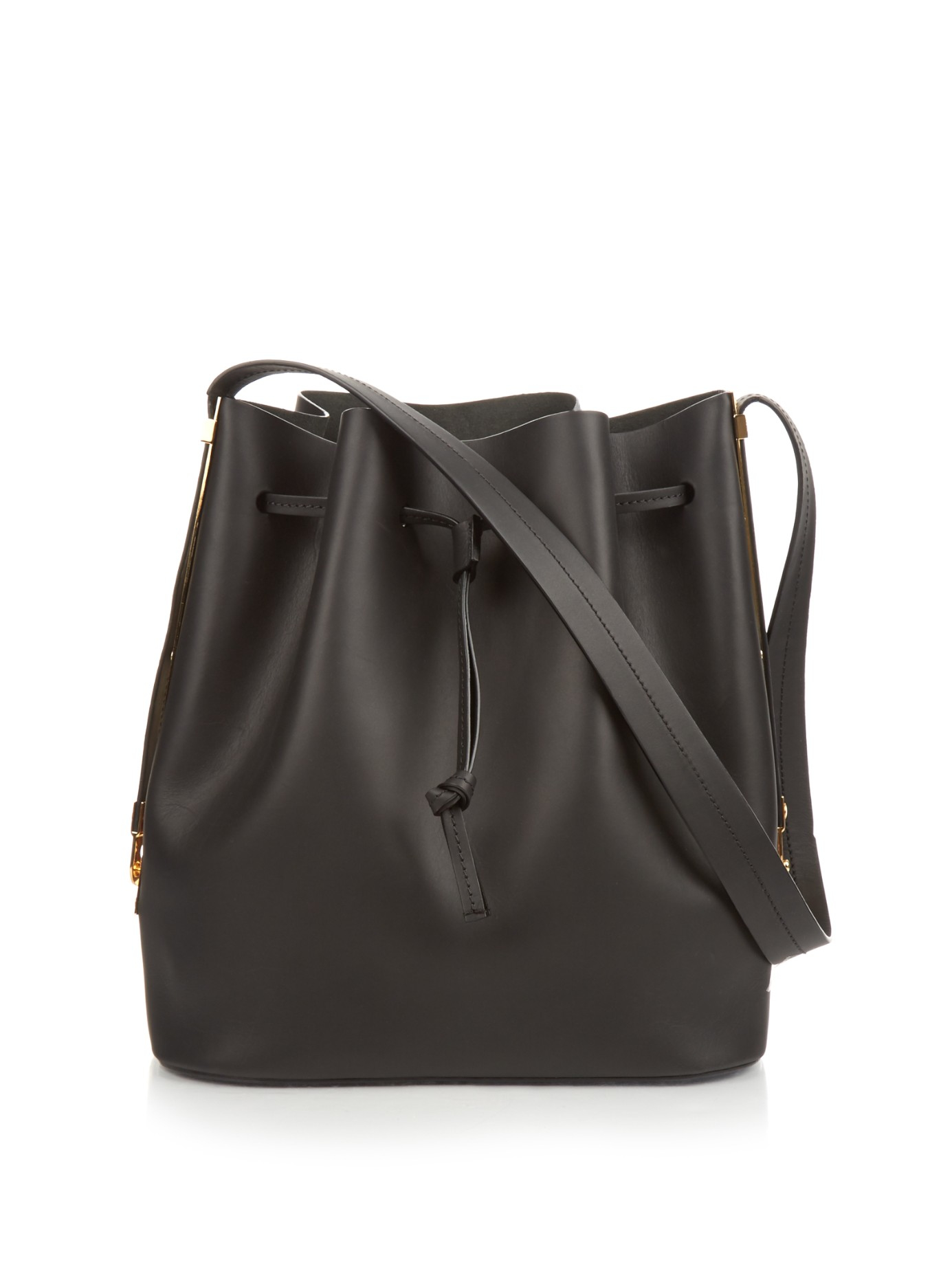 605a72f40cb4 Lyst - Sophie Hulme Gibson Leather Bucket Bag in Black