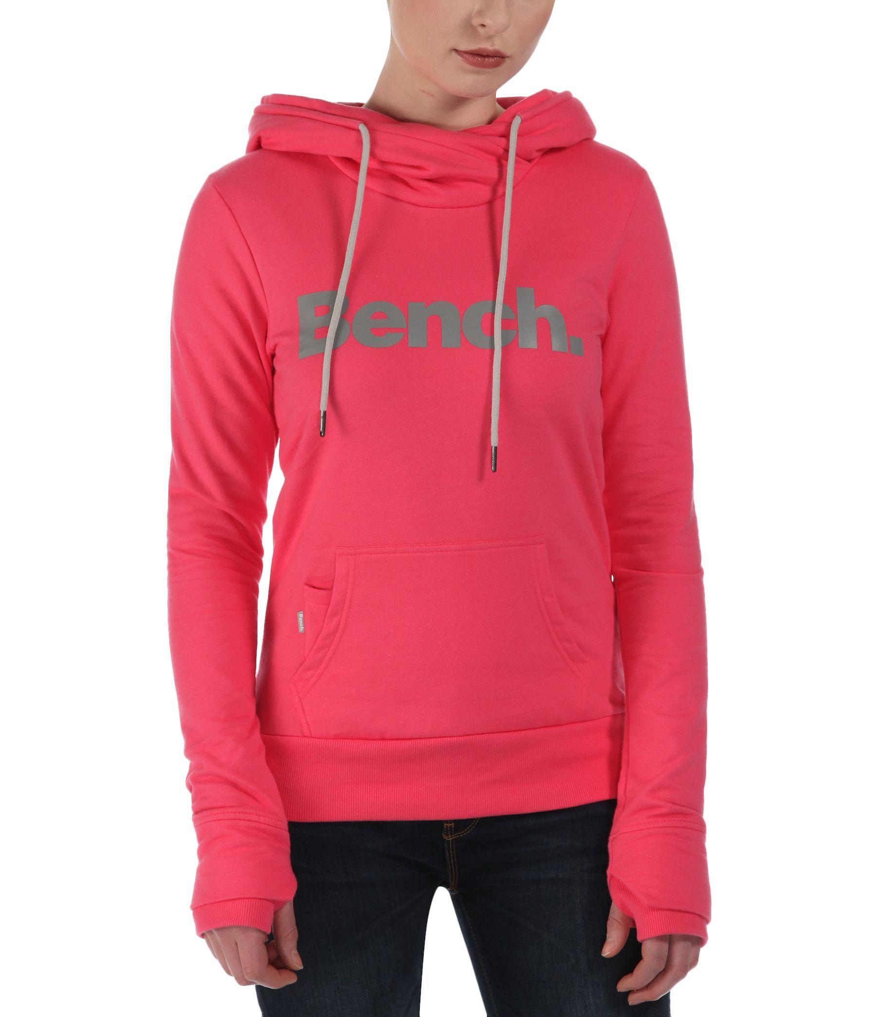 Bench Yoport Corp Logo Sweatshirt Hoodie In Pink Lyst