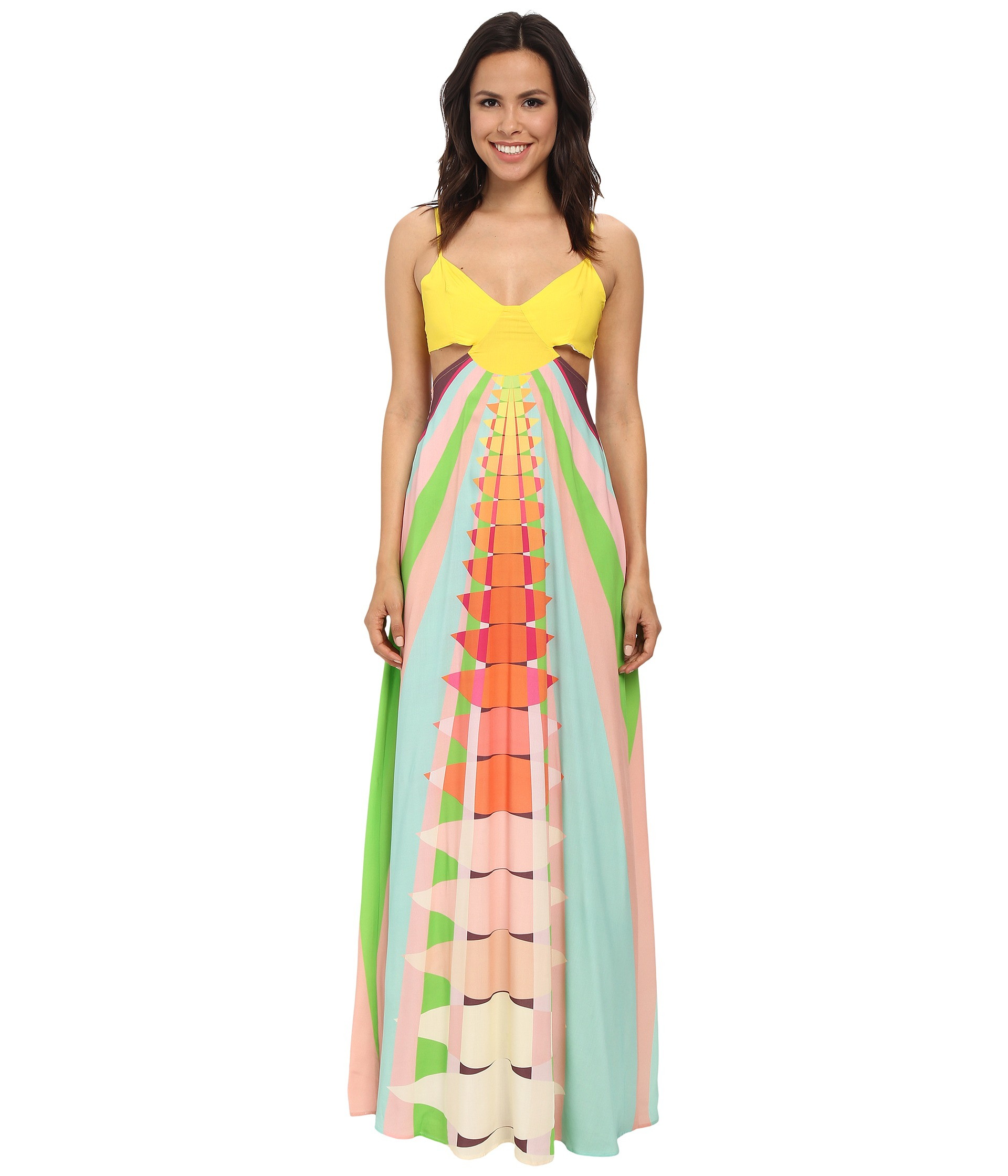 Mara hoffman Cutout Maxi Dress | Lyst
