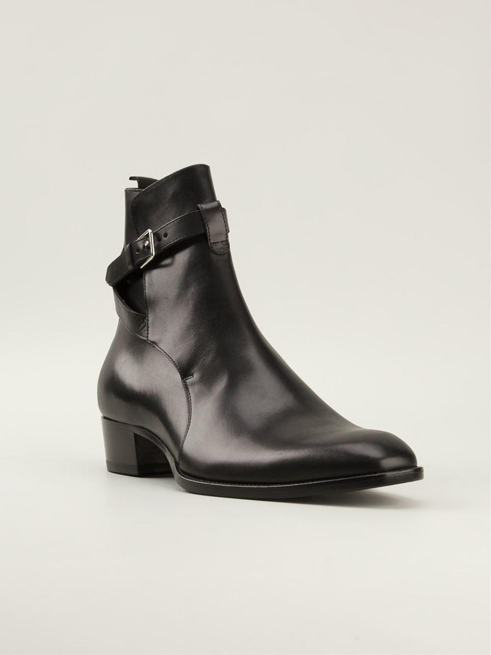 Saint Laurent  jodhpur  Ankle Boots in Black for Men - Lyst dc4d25444170