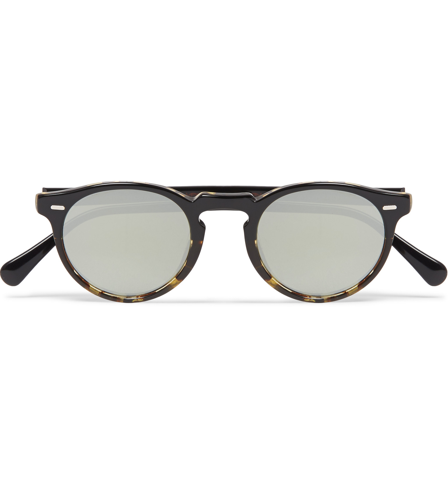 bdeae1113b Oliver Peoples Gregory Peck Round-frame Acetate Sunglasses in Black ...