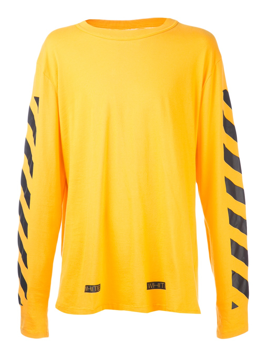 Off White C O Virgil Abloh Long Sleeve T Shirt In Yellow
