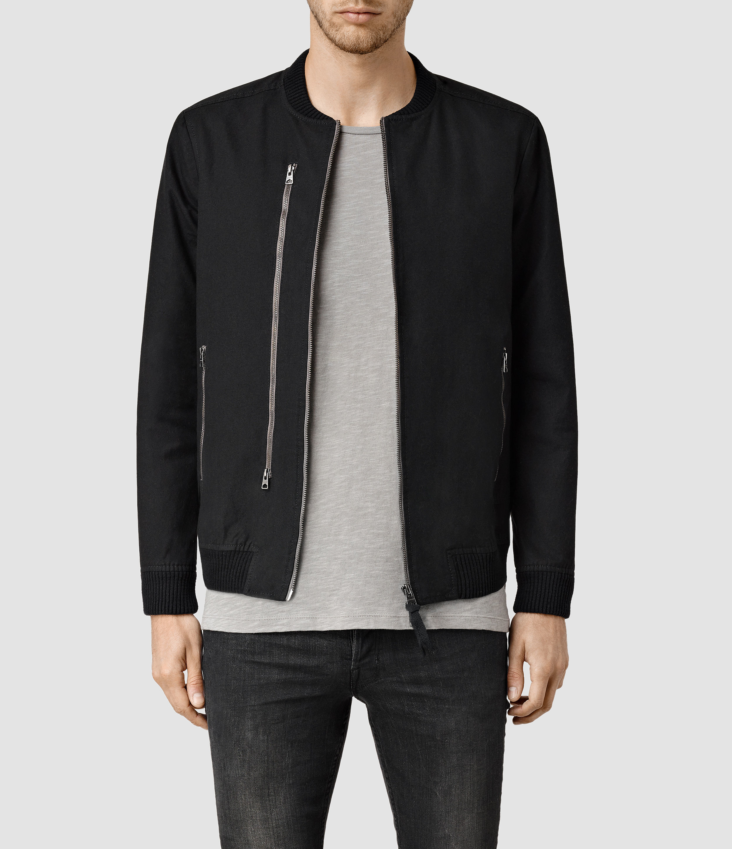 Allsaints Hamilton Bomber Jacket in Black for Men | Lyst