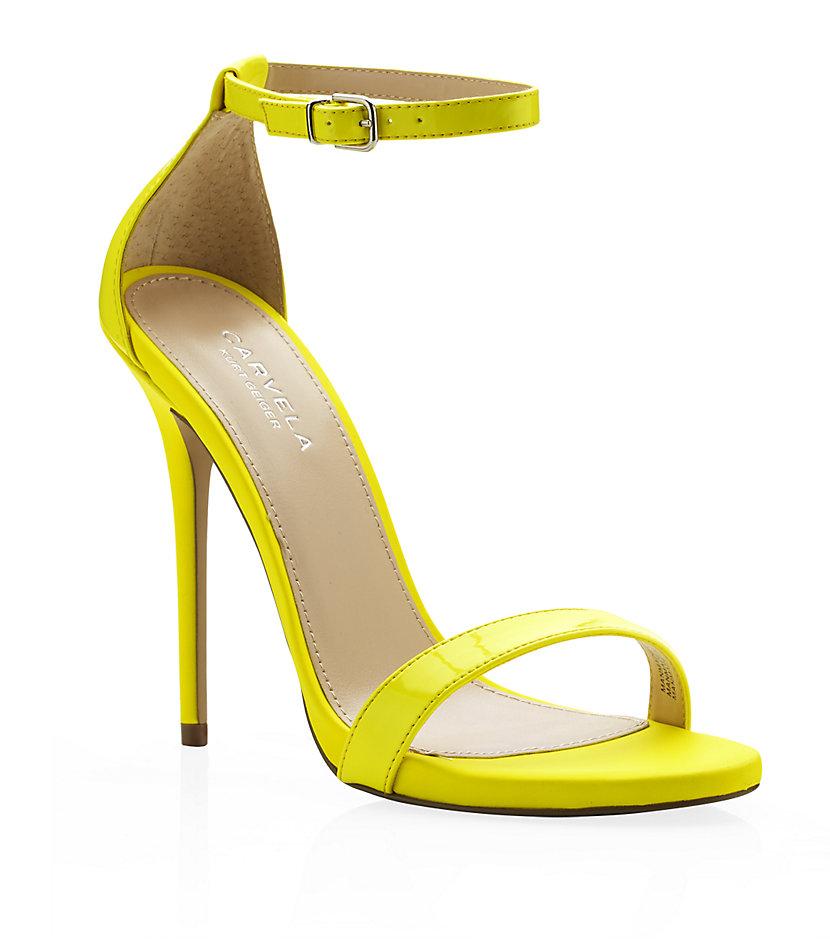 ca4566504a4 Carvela Kurt Geiger Glacier Neon Sandals in Yellow - Lyst
