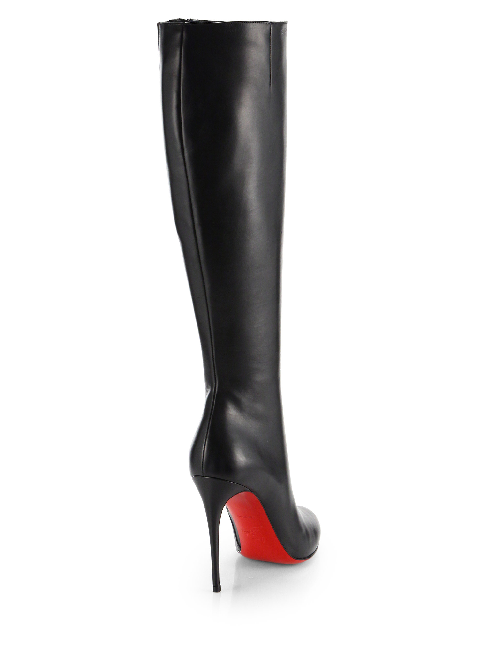 christian louboutin fifi botta leather knee-high boots