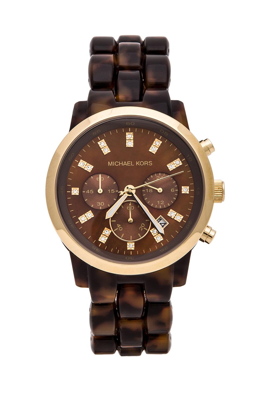 0b623fb12701 Lyst - Michael Kors Showstopper Watch in Brown