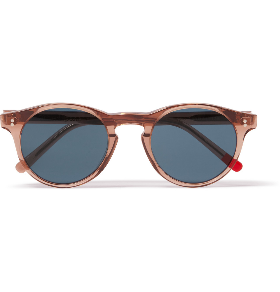 ca3284eccd194 Oliver Spencer Sid Round-Frame Sunglasses in Brown for Men - Lyst