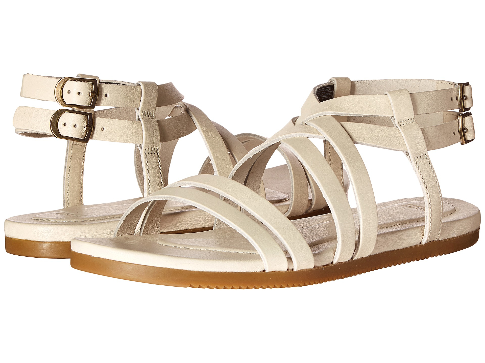 Teva Avalina Crossover Leather In White Lyst